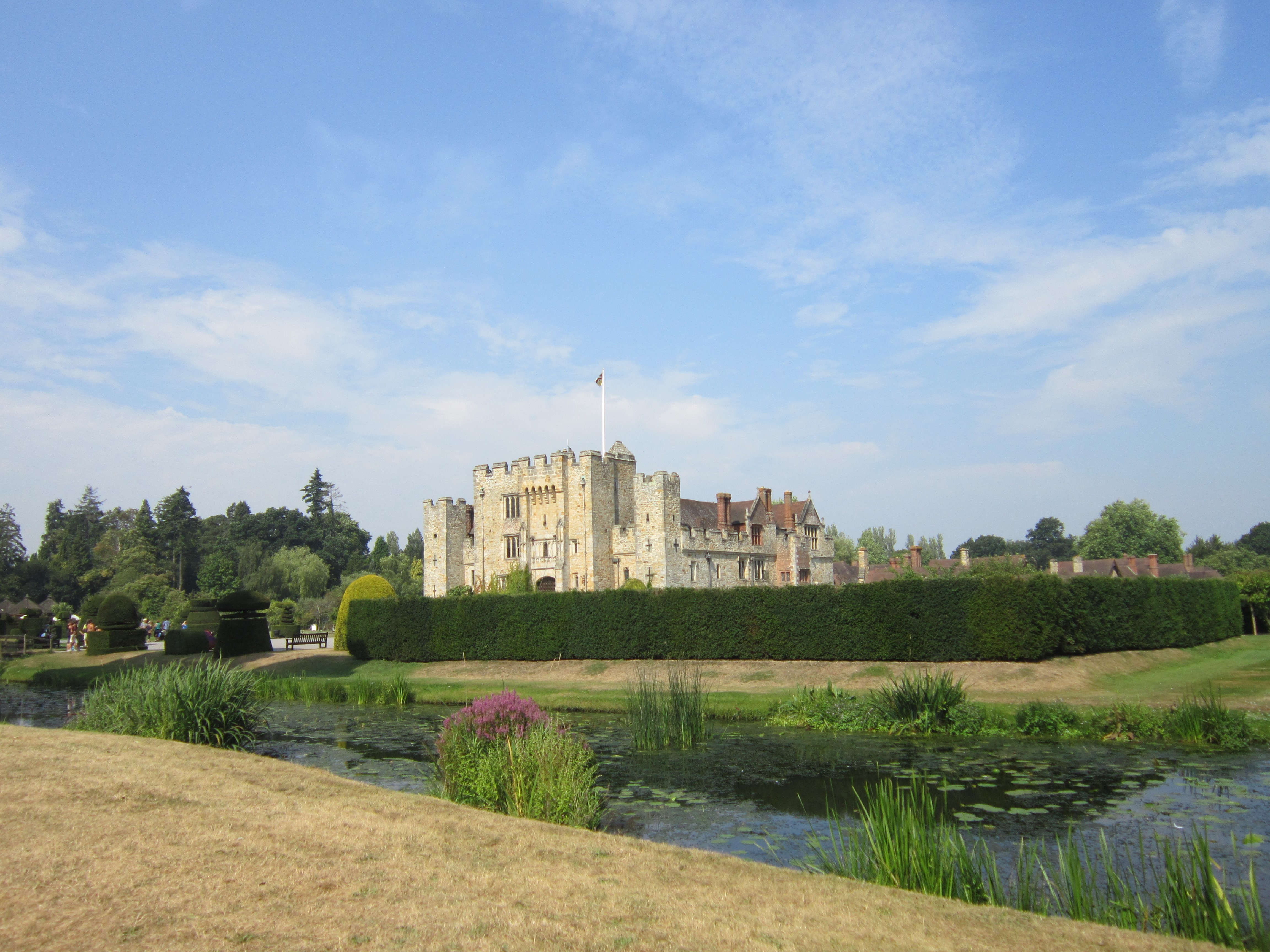 The moat at Hever Castle Image
